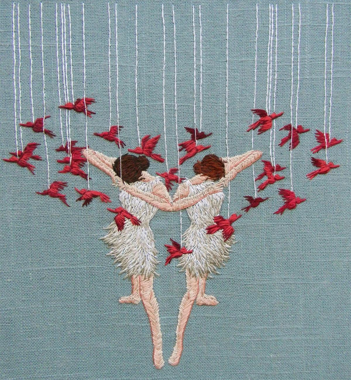 Pájaros, hilos, mujeres