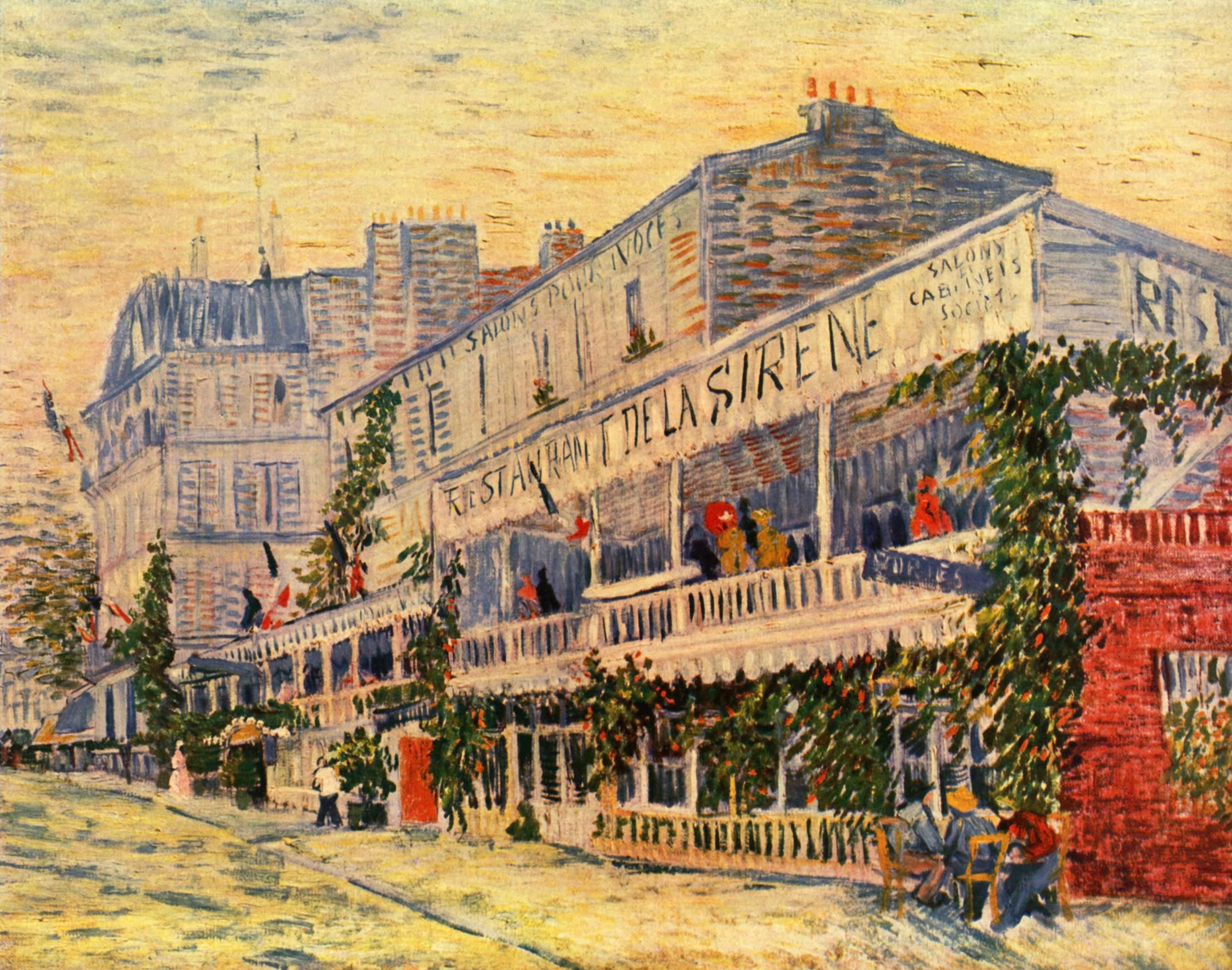 Restaurant de la Sirene. Vincent Van Gogh